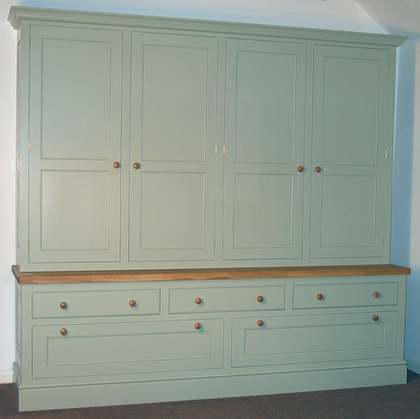 8ft hand painted kitchen dresser