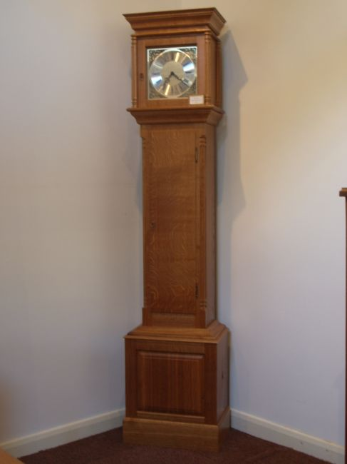 Oak Grandfather Clock (was £3200) Triple chime with auto night silence