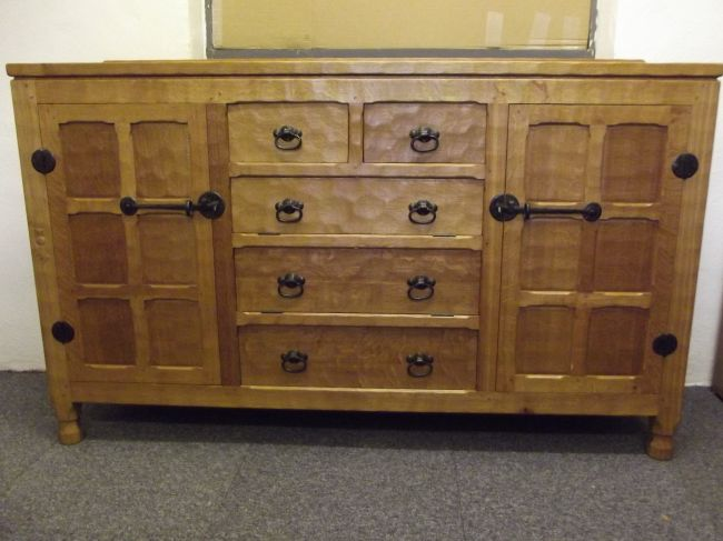 5' Traditional Sideboard, adzed, made in 2008